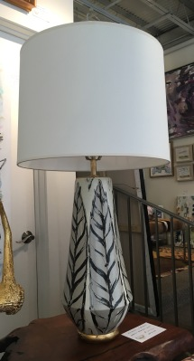 Ceramic Handmade Feather Lamps $2000/ pair