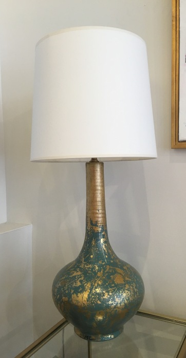 Ceramic Handmade Turquoise Lamps $2000 for a pair